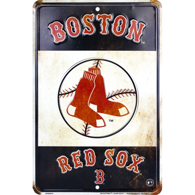 """Boston Red Sox MLB """"Replay"""" Parking Sign"""