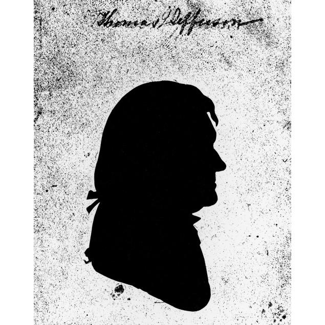 Thomas Jefferson (1743-1826). /Nthird President Of The United States. Silho