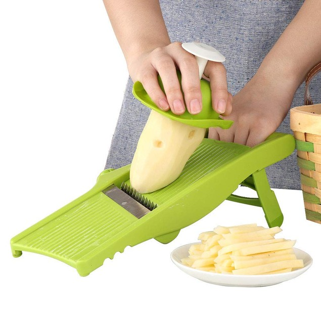 Vegetable Slicer- Fry Cutter for Onion Rings, Chips and French Fries