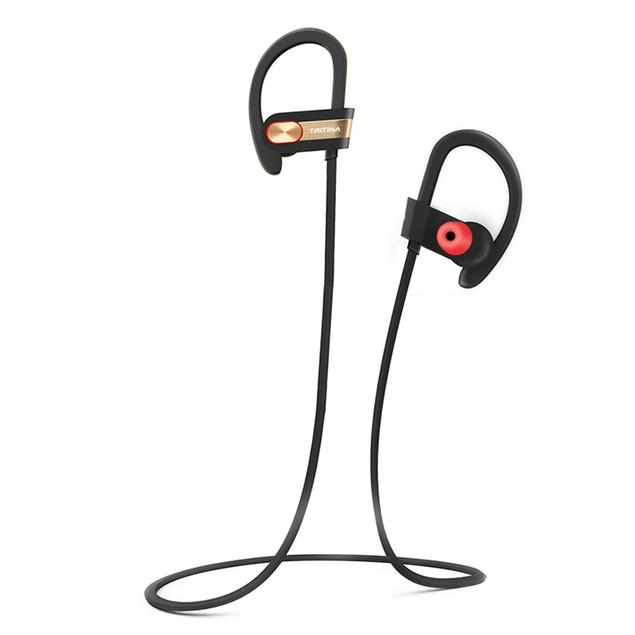 Tritina Sports Bluetooth Earphone+Mic- tereo Sound, Sweat-proof