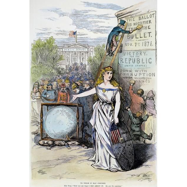 Nast: Tweed Cartoon, 1871. /N'To Whom It May Concern.' An 1871 Cartoon By T