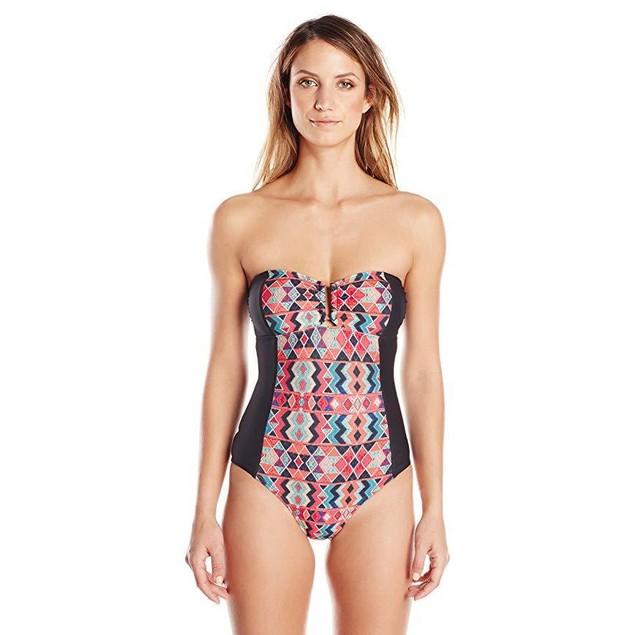 Ella Moss Women's Marrakech Bandeau One Piece Swimsuit, Multi, SZ  Sma
