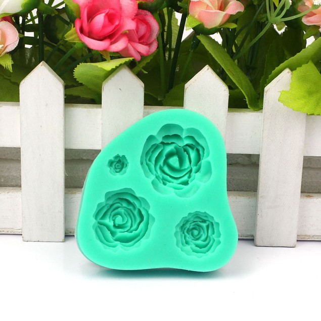 Rose Silicone Mold Cake Decorating Tool For Fondant Cake Cupcake