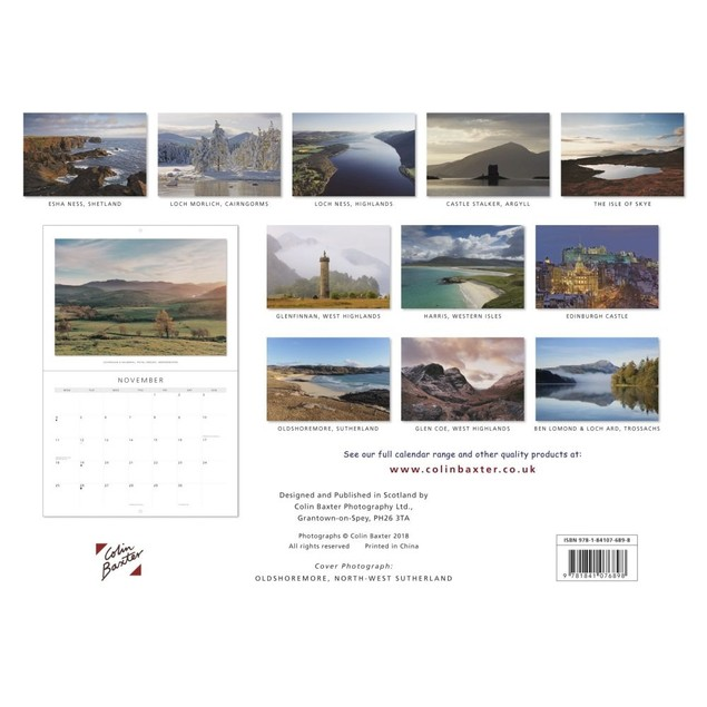 Scotland Landscapes Wall Calendar, Scotland by Colin Baxter Photography