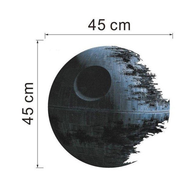 Death Star ARTWORK Star Wars Home Decor Wall Sticker