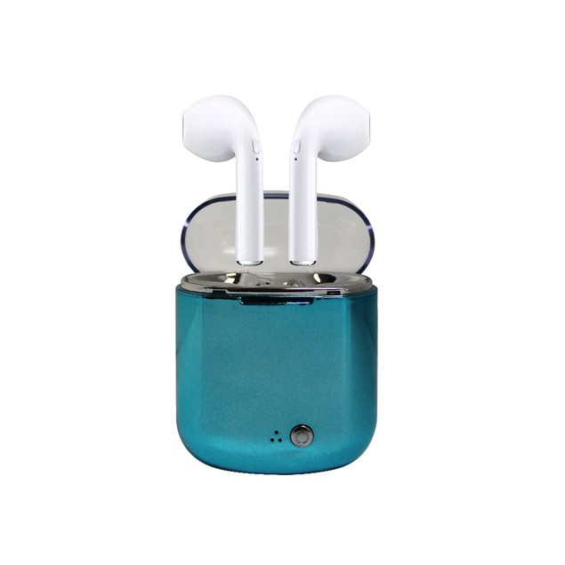 Metallic Wireless Earphones with Charging Case