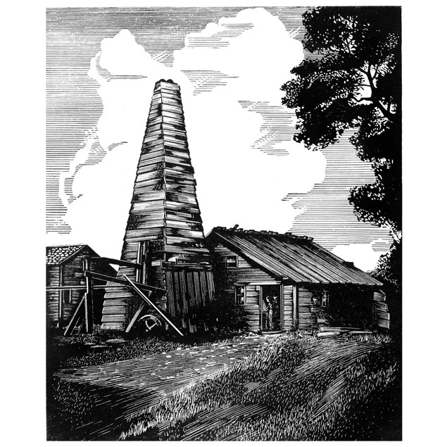 Pennsylvania: Oil Well. /Nthe First Oil Well Drilled At Titusville, Pennsyl