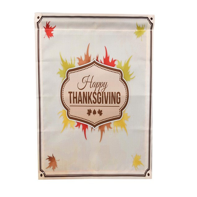 Happy Thanksgiving Garden Flags House Decor Mini Yard Banner 12'' x 18''