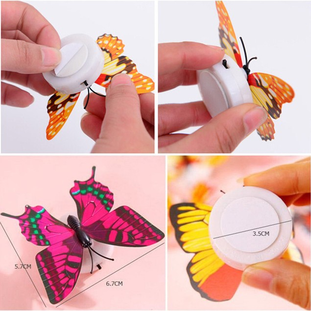 Wall Stickers Butterfly LED Lights Wall Stickers 3D House Decoration