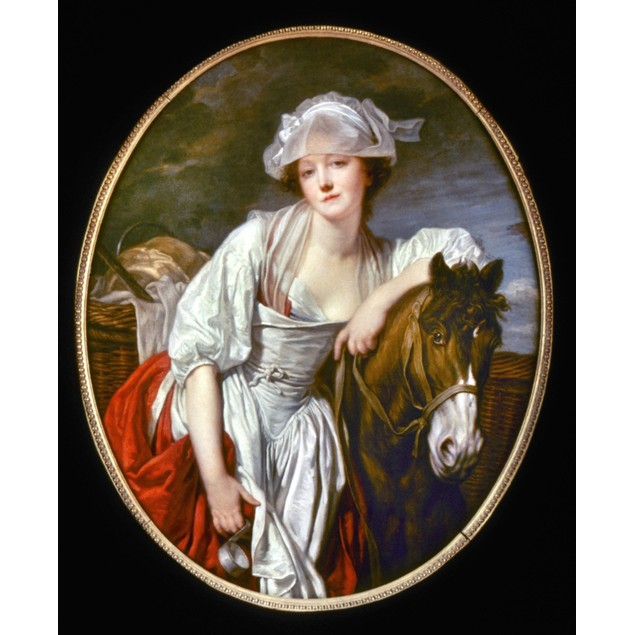 Greuze: Milkmaid, 18Th C. /Noil On Canvas By Jean-Baptiste Greuze, 18Th Cen