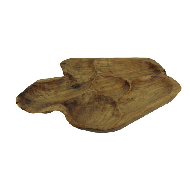 Hand Crafted Natural Wood Snack Serving Tray Decorative Trays