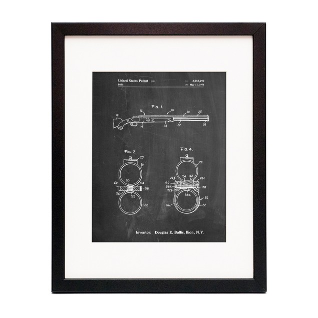 Remington Shotgun Patent Print