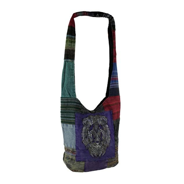 Lion Head Boho Patchwork Crossbody Bag