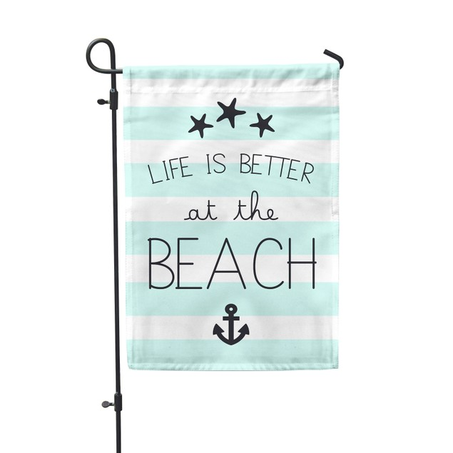 """Life Is Better at the Beach Festive Flag 12.5""""x18"""""""
