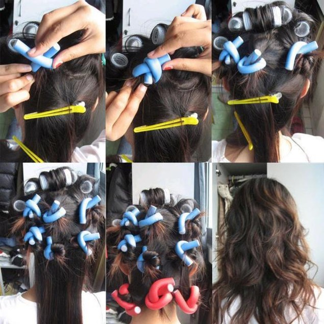 10PCS Curler Makers Soft Twist Curls DIY Styling Hair Rollers