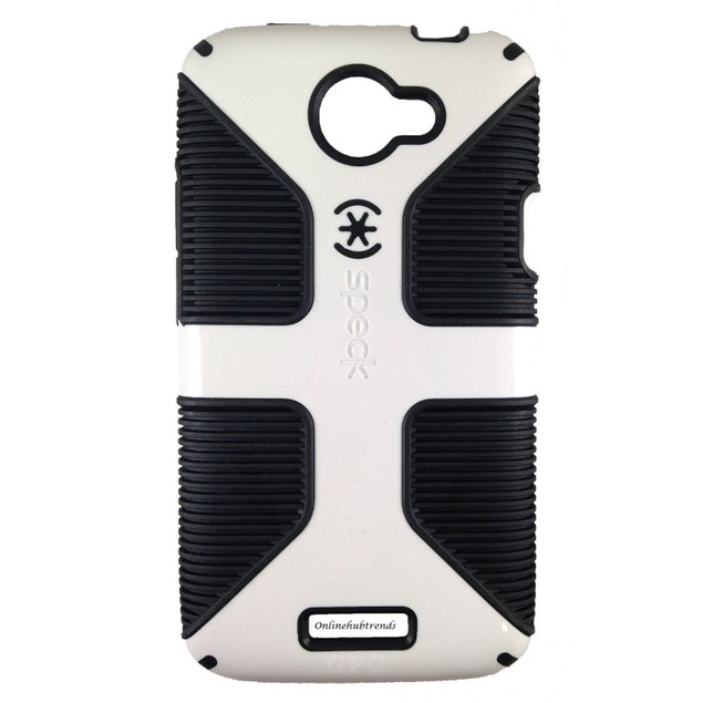 For HTC One X Authentic Speck Candyshell Grip Case White/Black SPK-A1124