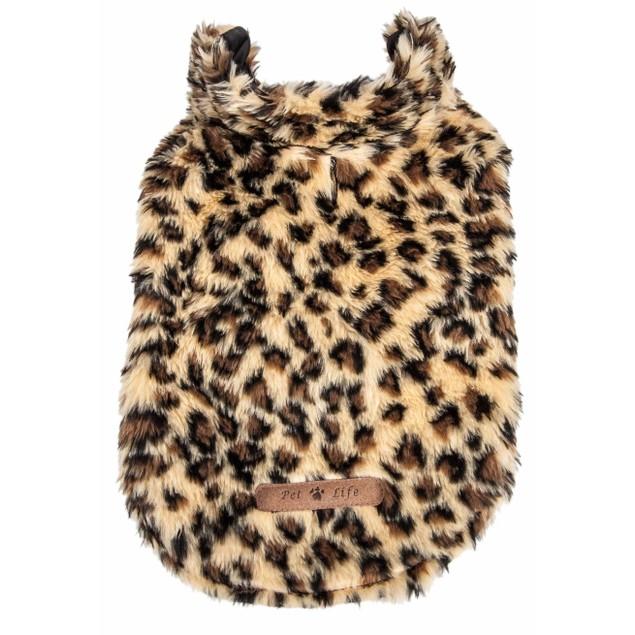 Pet Life Luxe 'Poocheetah' Cheetah Patterned Mink Fur Dog Coat Jacket