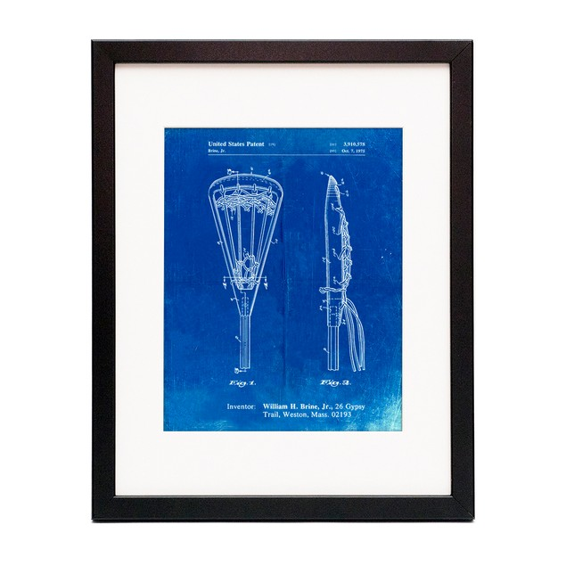 Lacrosse Stick 1936 Patent Poster