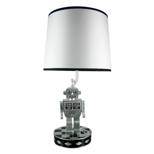Retro 60`S Style Robot Table Lamp Sci-Fi Robotic Childrens Lamps