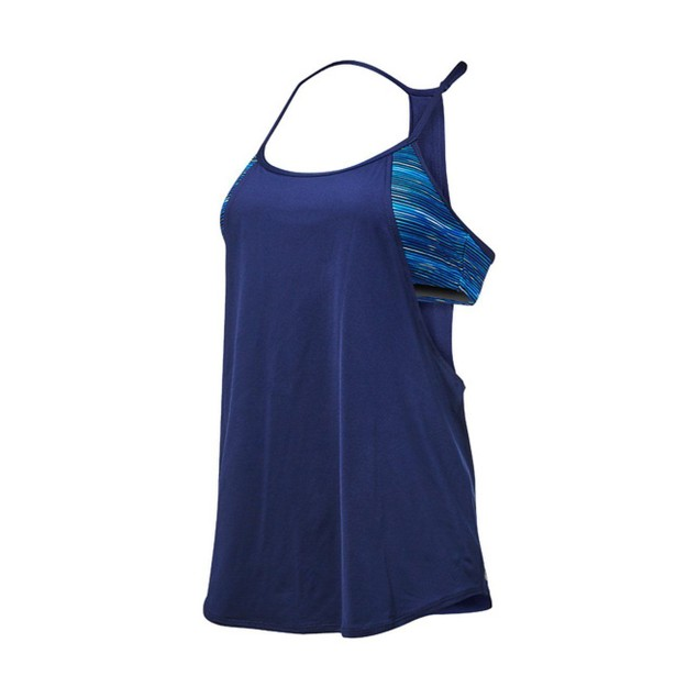 TYR Womens Cyprus Shea 2 In1 Tank, 472 Navy Royal, Sz: Medium
