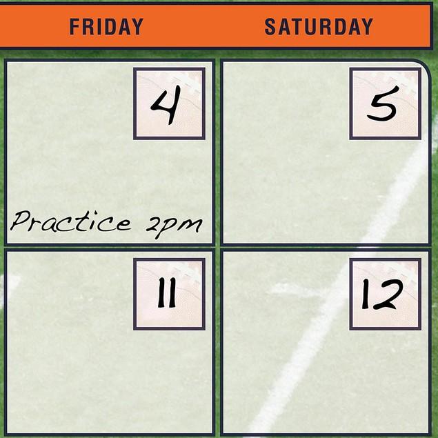 Chicago Bears Perpetual Calendar