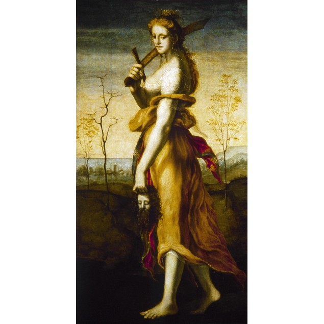 Beccafumi: Judith. /N'Judith With The Head Of Holofernes.' Oil On Panel, Do