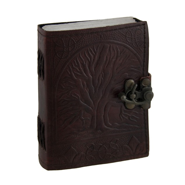 Embossed Leather Tree Of Life Journal With Brass Art Sketchbooks And