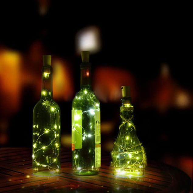1PC Cork Shaped LED Night Light Starry Light Wine Bottle Lamp For Party