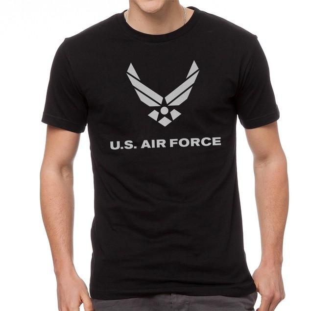 U.S. Air Force Logo Men's Black T-shirt