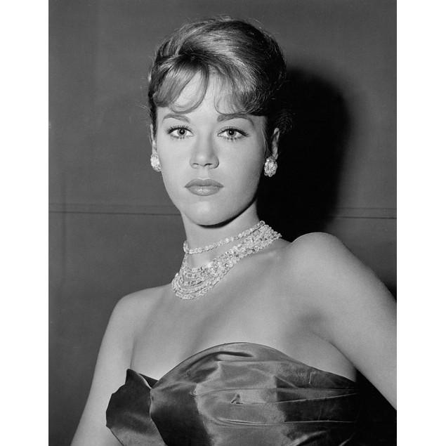 Jane Fonda wearing a necklace Poster