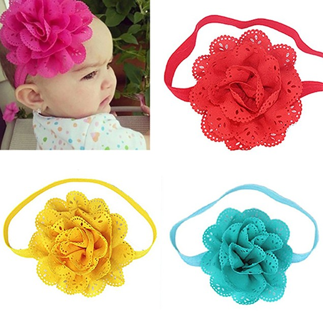 8Pcs Lovely Baby Girls Hollow Flower Headband