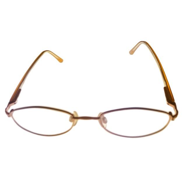 Bob Mackie Womens Soft Oval Metal / Stone Eyeglass Frame BM125 Gold Taupe