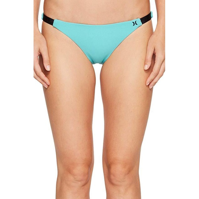 Hurley Women's Quick Dry Cheeky Bottom Washed Teal Swimsuit Bottoms