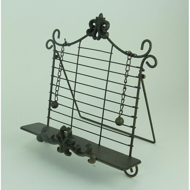 Rustic Metal Fleur De Lis Cookbook Holder Easel Cookbook Stands