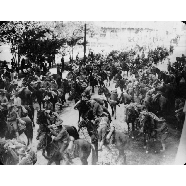 Spanish-American War, 1898. /Namerican Soldiers Mounting Horses In Cuba, 18