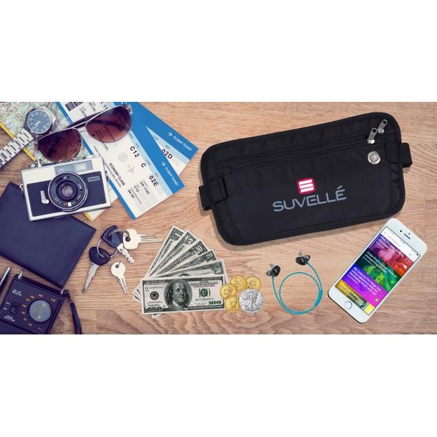 Suvelle RFID Blocking Money Waist Pouch Wallet