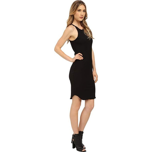 LNA Women's Elise Dress Black Rib Dress
