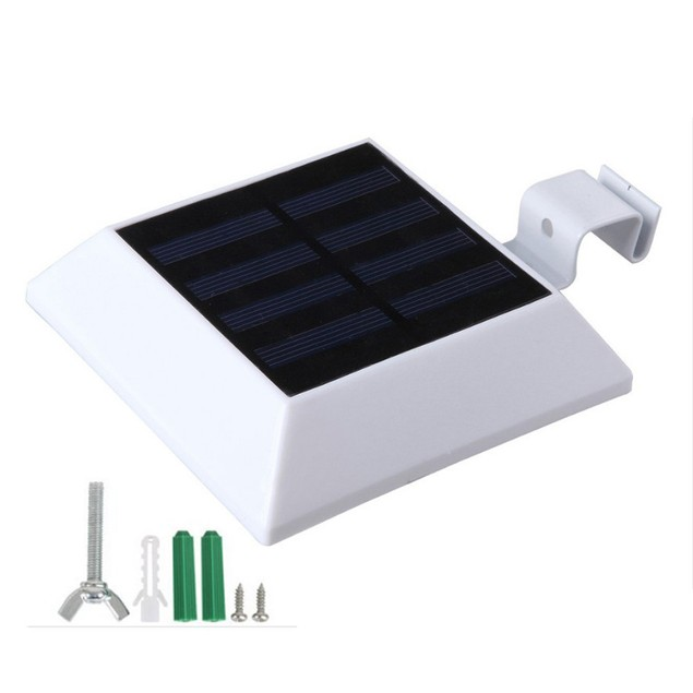 Solar Power Motion Sensor Outdoor Security Gutter Spot LED Flood Light