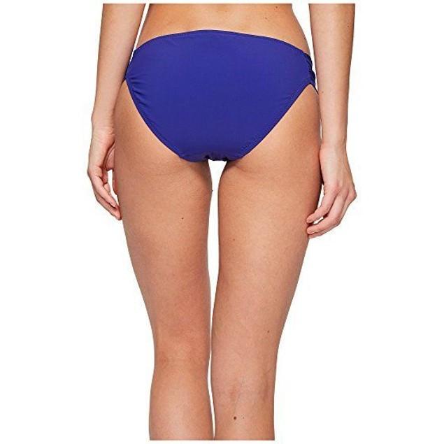 Trina Turk Women's Jakarta Embriodery Shirred Side Bikini Bottom SZ 4