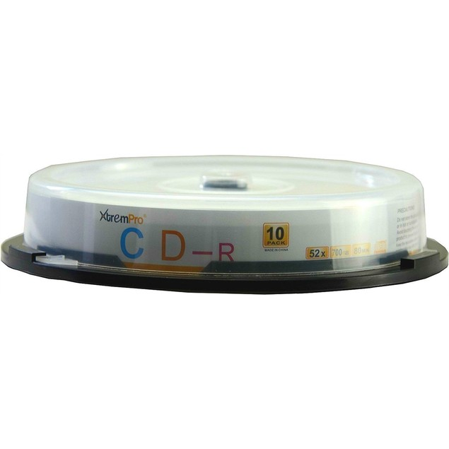 CD-R 52X 700MB 80Min CD 10 Pack Blank Discs in Spindle