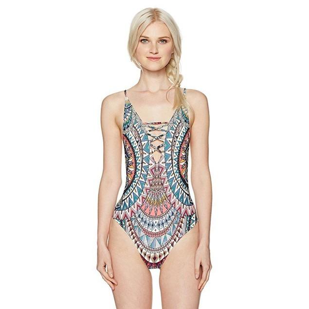 Billabong Women's Dreamer One Piece Swimsuit, Multi, SZ  L