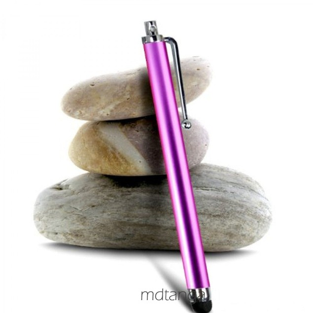 1 pc Purple Capacitive Aluminum Stylus Pen For Touchscreen Smartphone