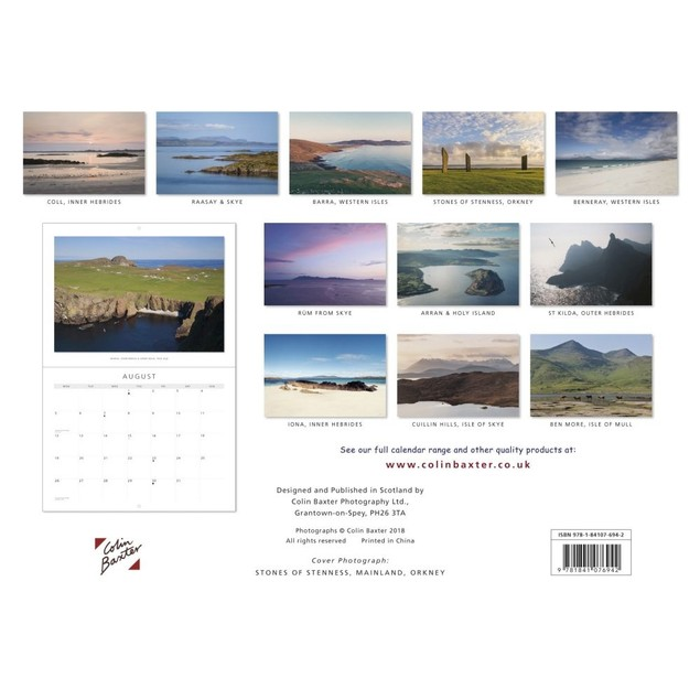 Scottish Islands Wall Calendar, Scotland by Colin Baxter Photography