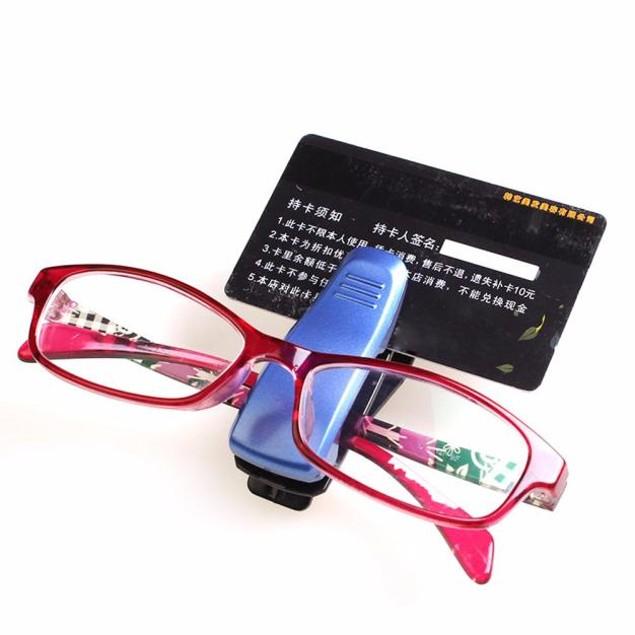Car Sun Visor Glasses Sunglasses Ticket Receipt Card Clip Storage Holder