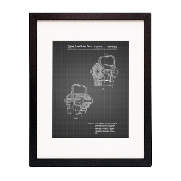 Stage Spotlight Patent Poster