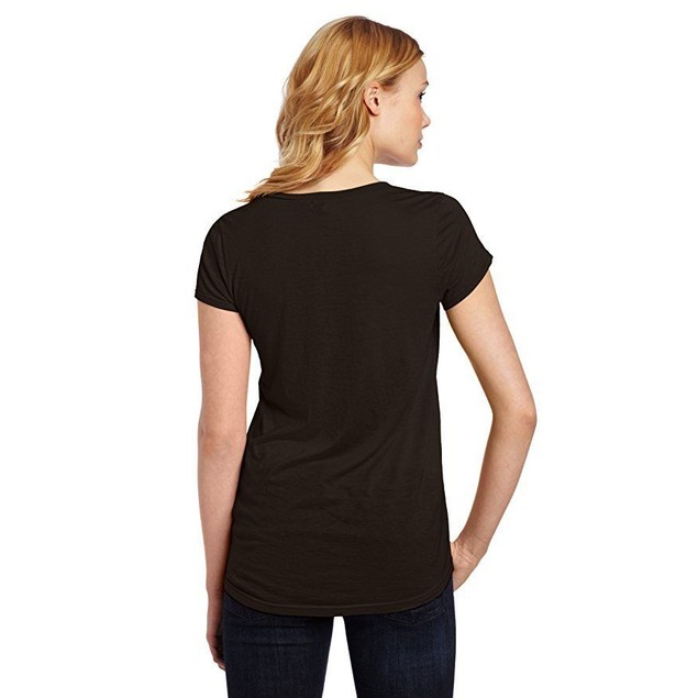 Splendid Women's Very Light Jersey Short Sleeve U Neck Tee, Black Sz: