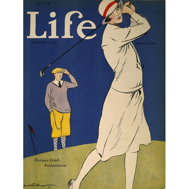 Golfing: Magazine Cover. /N'Life' Magazine Cover, 1926. Poster