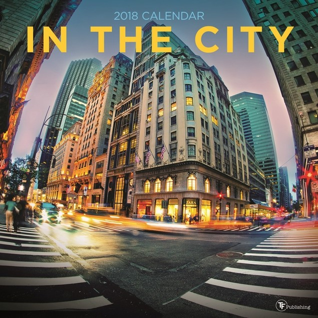 In the City Wall Calendar, Globetrotter by TF Publishing