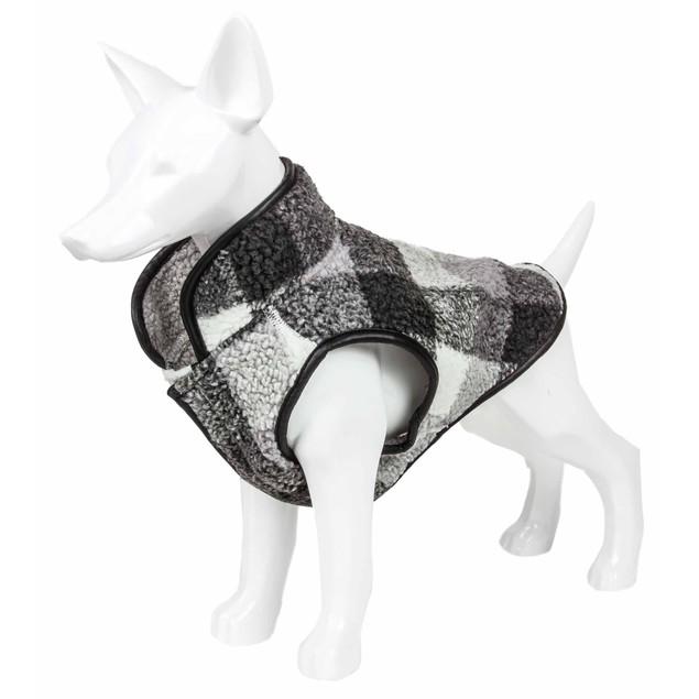 Pet Life 'Black Boxer' Classical Plaided Insulated Dog Coat Jacket