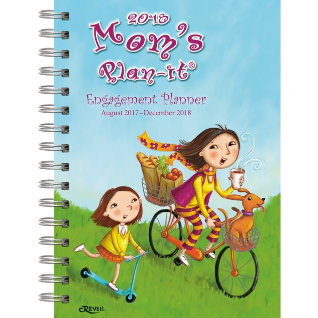 """Wells Street by LANG - 2018 """"Mom's Plan-It!"""", Engagement Planner, 12 Month"""